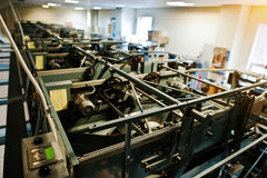 Engine room of bowling machine Royalty Free Stock Photo