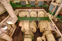 Engine room, generator sets Stock Photos