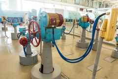 Engine room nuclear power station stock images