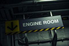 Engine Room Sign Royalty Free Stock Photography