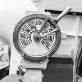 Engine room telegraph,  old steamship Royalty Free Stock Photography