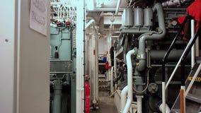 Engine Room of tug AHTS stock footage