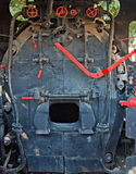 Engine room of very old steam train Stock Image