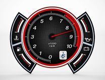 Engine RPM gauge. 3D illustration. Royalty Free Stock Photography