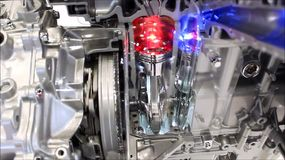 Engine running stock footage