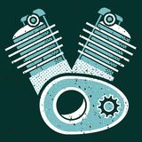 Engine stock illustration