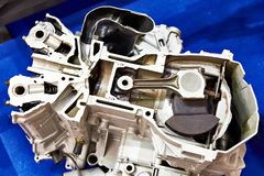 Engine in section. Internal combustion engine in section royalty free stock photography