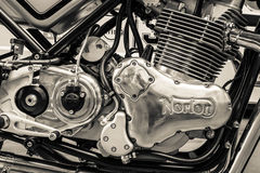 Engine of a sports motorcycle Norton Commando 961 Cafe Racer Royalty Free Stock Images