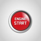 Engine start. And stop button Stock Photos