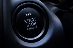 Engine Start Button car Royalty Free Stock Images