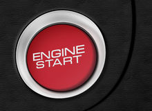 Engine start button close-up image Royalty Free Stock Photography
