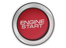 Engine start button close-up image Stock Photography