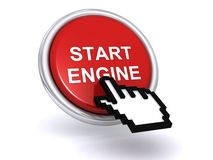 Engine start button Royalty Free Stock Image