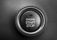 Engine start button Royalty Free Stock Images