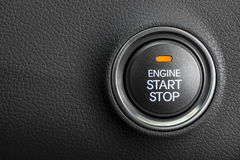 Engine start button Stock Photo
