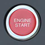 Engine Start - Car Push Button Starter Royalty Free Stock Photo