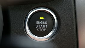 Engine Start. Starting and stopping the engine of a car stock video