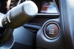 Engine start stop button Stock Images
