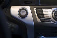 Engine start stop button. Of a car Royalty Free Stock Images