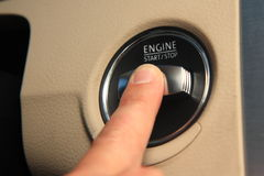 Engine Start/Stop button Royalty Free Stock Image