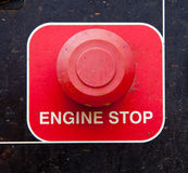 Engine Stop Button stock image