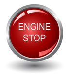 Engine stop web buttons stock illustration