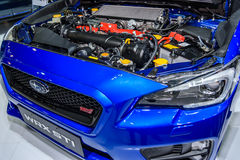 Engine of Subaru WRX STI Royalty Free Stock Photography
