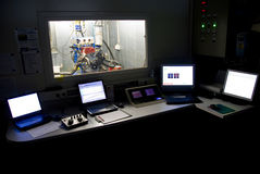 Engine Test Control Room Royalty Free Stock Image