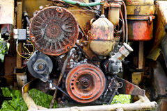 Engine of tractor Stock Photo