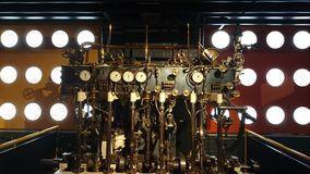 The engine of a train 1900s Stock Image