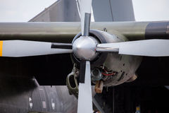 Engine from a Transall C-160 transport plane Stock Images