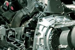 Engine Transmission. Car Engine and Automatic Transmission Royalty Free Stock Photos
