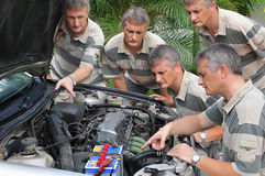 Engine trouble Royalty Free Stock Photos