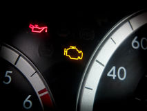 Engine dashboard light Stock Image