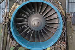 Engine turbo fan. Aircraft machine rotor transportation turbojet Royalty Free Stock Images