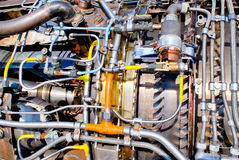 Engine. Ukraine aircraft engine details motorsich Stock Photos
