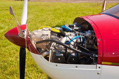 Engine of the ultralight aircraft  Royalty Free Stock Photos