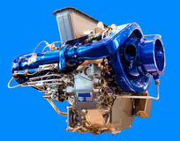 The engine under the blue background Royalty Free Stock Photography