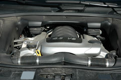 Engine under the hood Royalty Free Stock Photos