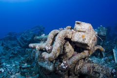 Engine on an underwater wreck Royalty Free Stock Images
