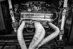 Engine (V8) of the custom Hot Rod Royalty Free Stock Image