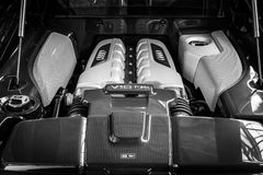 Engine V10 F21 modern sports car Audi R8 Stock Images