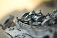 Engine Valves. The work of the internal combustion engine valves stock photo