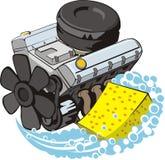Engine wash royalty free illustration