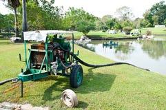 Engine water pump in garden Stock Images