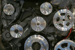 Engine wheels and pulleys Royalty Free Stock Photography