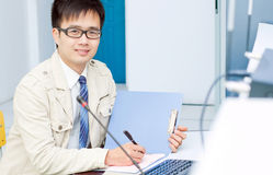IT Engineer. (work is being seriously Stock Photo