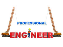 Engineer 3D on White Stock Image