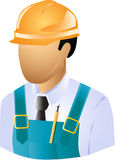 Engineer. Builder,counstructor for industry Royalty Free Stock Photo
