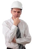 Engineer against white background Royalty Free Stock Image